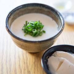 越前塩のにがりで作った自家製豆腐 ¥200