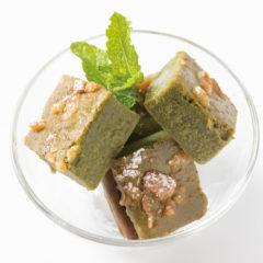 豆腐と豆乳のヘルシー有機抹茶のブラウニー ¥400